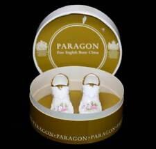 Vintage Paragon (Royal Albert) Victoriana Rose pink roses pair bone china shoes