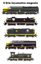Erie Railroad Black & Yellow Locomotives 5 magnets by Andy Fletcher