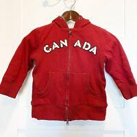 NBT Red Fleece Lined Kids Canada Hoodie sz 4Y