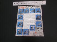VINTAGE IRVINE R/C MODEL PLANE BOAT CAR  ENGINE AD BROCHURE AS PICTURED *G-COND*