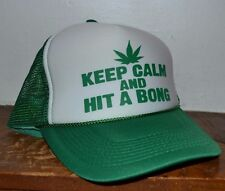 """""""Keep Calm and Hit A BONG"""" Trucker Style Baseball  Hat Cap Snapback One Size"""