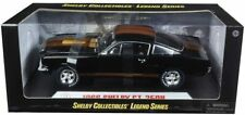 FORD MUSTANG GT 350 H 1966 BLACK GOLD LANES 1/18 SHELBY COLLECTIBLES METAL