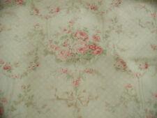 Yuwa Girlanden von Kronen rosa Rosen sich auf Abendessen bei Creme Baumwolle Dobby-zarte Puppen