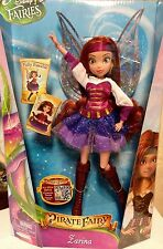 "Disney Fairies Zarina ""Pirate Fairy"" Wave 9"" Deluxe Fashion Doll...New"