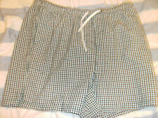 MAINE WHITE AND BLUE STRIPE CHECK SHORTS XL NEW