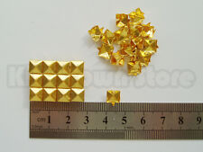 210+ 6mm New Gold metal pyramid studs/ Spots Punk Bag Belt Leathercraft