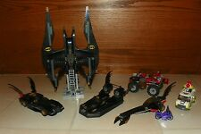 LEGO BATMAN LOT - BATMOBILE, BAT BOAT, BAT WING, DRAGSTER & MORE - READ
