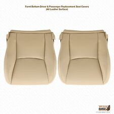 2003 2004 2005 Lexus GX470 Driver & Passenger Bottom Leather Seat Cover Tan