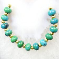 13pcs Lapis Lazuli with Chrysocolla Rondelle Pendant Bead Set Q09644