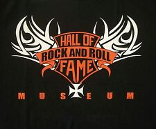 L Large Rock and Roll Hall of Fame and Museum Cleveland BIKER LOGO T Shirt