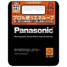 NEW Panasonic Eneloop Pro XX 930 mAh 4 pcs AAA Ni-MH rechargeable BK-4HCD/4