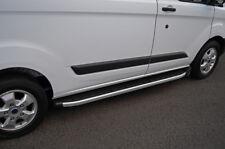 Aluminium Side Steps Bars Running Boards To Fit LWB Ford Transit Custom (2012+)