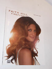 Fireflies FAITH HILL chords PIANO vocal PARTITION sheet music SONGBOOK guitar