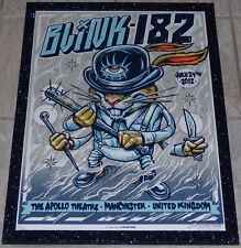 BLINK-182 MANCHESTER UK 2012 FRAMED LE CONCERT POSTER MUNK ONE CLOCKWORK ORANGE