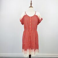 Maeve Anthropologie Womens Day Dress Button Front Size M