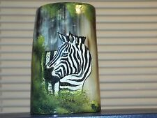 Hand Painted Animal Horn Cup Themed Zebra