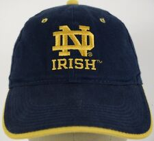 Notre Dame Irish Blue Baseball Hat Cap and Adjustable Strap