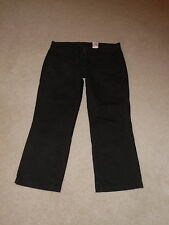 LUCKY BRAND BLACK TROUSER CROPPED CAPRIS COTTON PANTS SIZE 4 / 27