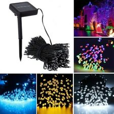100/200/500 LED Solar Powered Fairy String Lights Outdoor Waterproof Xmas Party