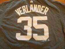 Majestic Detroit Tigers Justin Verlander #35 Player T-Shirt Size Large