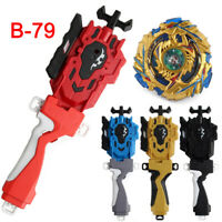Beyblade Burst Gold Drain Fafnir Starter Spining Top LR String Launcher Grip Toy