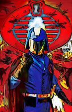 """Cobra Comander G.I. Joe """"Cobra Commander: Total War"""" 11 X 17 quality poster"""