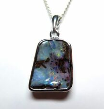Handmade Boulder Opals Natural Stone Fine Necklaces & Pendants