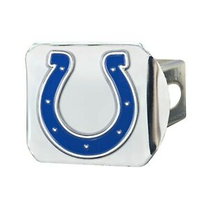 Fanmats NFL Indianapolis Colts 3D Color on Chrome Metal Hitch Cover Del 2-4 Days