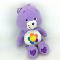 "Purple Care Bears Plush Harmony Stuffed Animal Large Jumbo 22"" Classic Doll Toy"