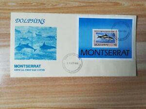 MONTSERRAT 1990 NO WWF LOGO dolphins SS LOCAL FDC