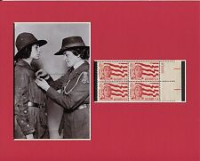 Juliette Gordon Low Girl Scouts Founder Rare Photo Display With Postal Stamp