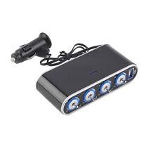 4 fach 1 USB 12V 24V Auto KFZ Ladegerät Zigarettenanzünder Ladeadapter Verteiler