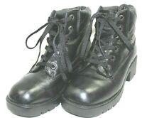 HARLEY DAVIDSON womens biker boots size 7 M leather upper black excellent condit
