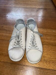 Lacoste Grey Leather Sneakers Size Euro 40.5