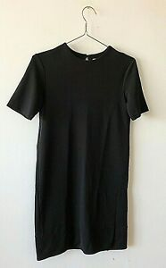 & Other Stories Black Casual Stretch Crepe Boxy Cool Short Dress UK10 EU36 Chic