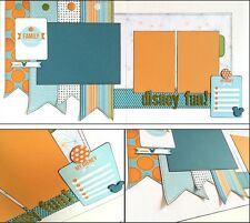 "Mickey ""DISNEY FUN!"" layout Premade Scrapbook page Disneyland Disney World DD"