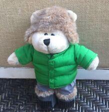 "Starbucks Coffee Company 104th Edition Bearista  2011 Bear Green Vest Plush 10"""