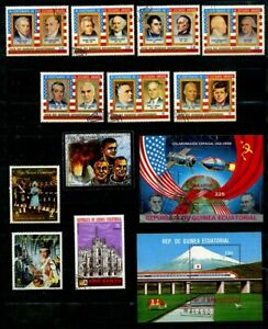Equatorial Guinea 1970's, US Presidents, Elizabeth II, Space Mini Sheet  CTO