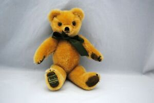 """Merrythought Harrods Jointed Golden Mohair Teddy Bear 12"""" Vintage"""