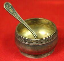 Vintage Antique Russian Melchior Silver plated Gilt Salt Cellar
