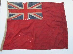 Vintage old worn Union Jack Ensign flag for display prop