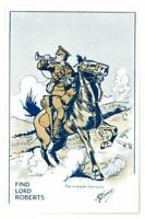 Antique WW1 printed postcard Find Lord Roberts artist signed A E Horne