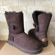 UGG Classic Short Bailey Button II Water-resistant Chocolate Boots Size 11 Women