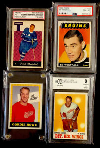1960's-70 Vintage Hockey Cards : (2) Howe - Mahovlich - Westfall (Lot of 4)