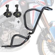 Set Sturzbügel + Scheinwerfer für Honda Africa Twin CRF 1000 L 16-19 schwarz