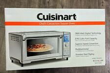 New Stainless Steel Cuisinart Chefs Convection Toaster Oven Tob-260n1 + More