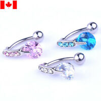 1pc Zircon Jeweled Crystal Belly Button Ring Body Piercing Navel punk accessory