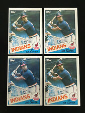 4 JOE CARTER ROOKIES TOPPS 1985 BASEBALL CARDS CLEVELAND INDIANS