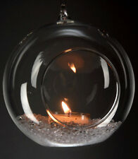 "2 3/4""Dia Hanging Glass Globe Terrarium Candle Holder Bulk 