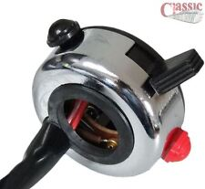 """Wipac S3858 Chrome Tricon Dip / Horn /kill switch ideal for 7/8"""" Handlebars"""